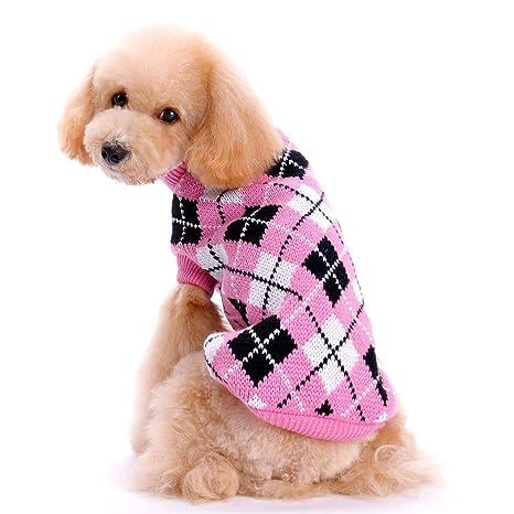 FONLAM Jersey para Perro Cachorro Gato Chaleco Disfraz Ropa Traje Fiesta a Cuadro Mascota Perro (