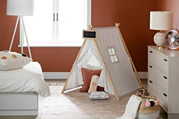 South Shore Sweedi Organic Cotton And Pine Play Tent With Chalkboard Furniture Decor
