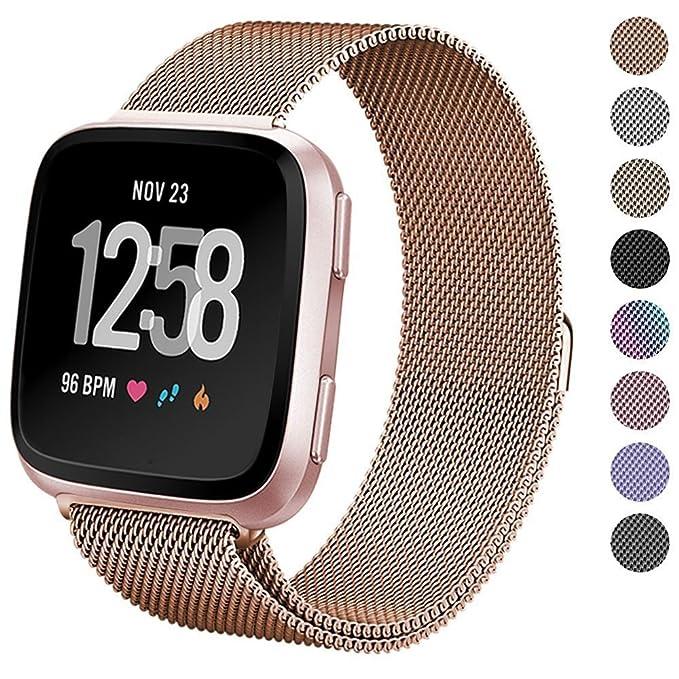 Correa para smartwatch Fitbit Versa en acero inoxidable de ...