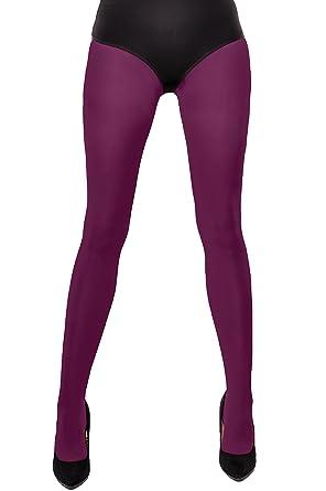 4f1123fde0358 PURPLE / PLUM Ladies Tights Opaque / Matt 40 Denier Microfibre with Gusset  BNIB Hosiery: Amazon.co.uk: Clothing