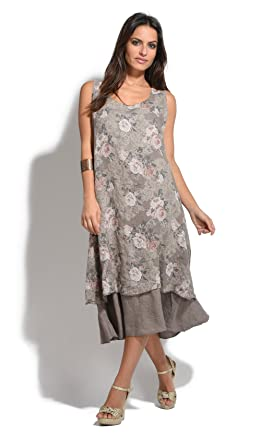 Couleur Lin Dress Meredith Taupe Women Spring/Summer Collection at ...