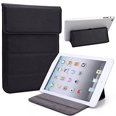 NuVur Universal Faux leather Stand & Case fits Samsung Galaxy Tab S2 8.0|Black/Black