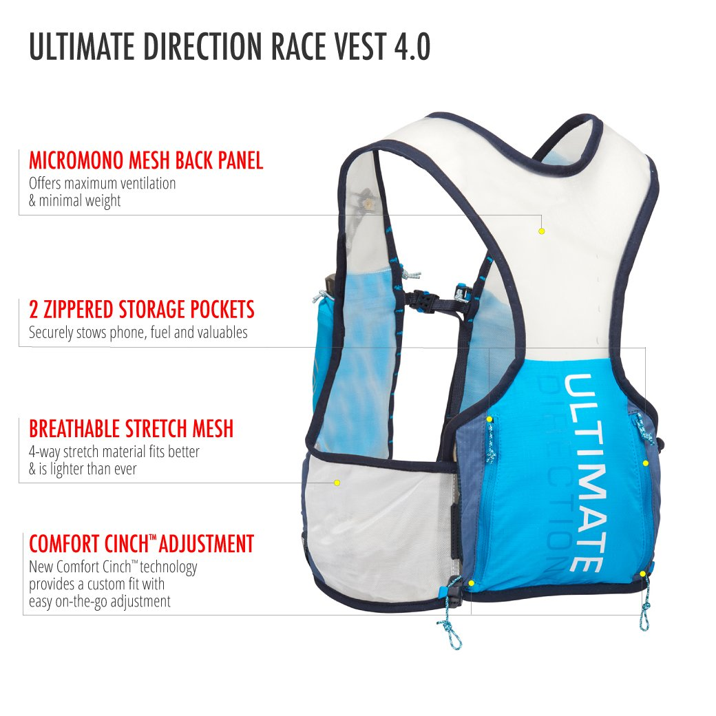 Ultimate Direction Race Vest 4.0, Signature Blue, Large by Ultimate Direction (Image #4)