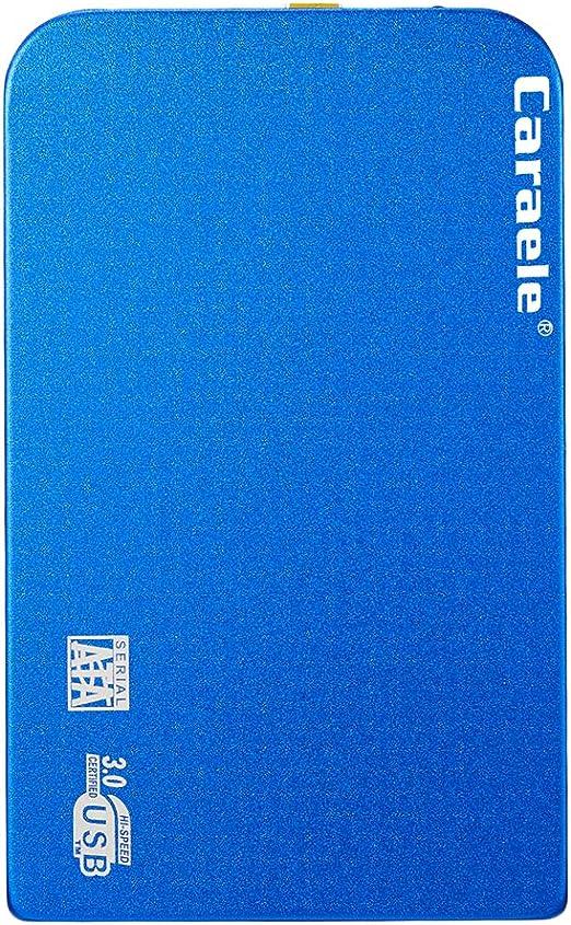 H HILABEE ハードディスク 外付けHDD USB3.0 高速 2.5インチ SATA モバイルハードディスク 薄型 レザーカバー付き - 1T