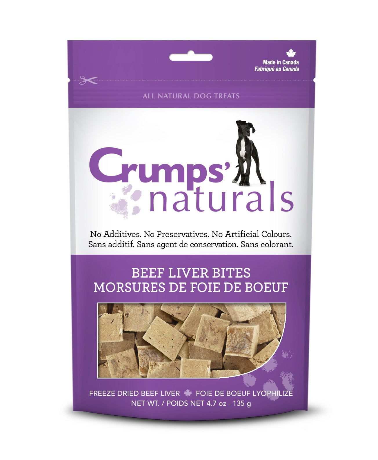 Crumps' Naturals Beef Liver Bites For Pets, 2.3-Ounce
