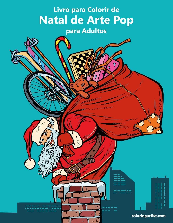 Livro Para Colorir De Natal De Arte Pop Para Adultos Portuguese