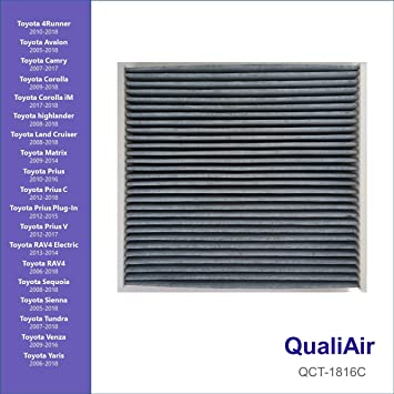 C35667 CHARCOAL ACTIVATED CABIN AIR FILTER FOR LEXUS IS350 2006-2013