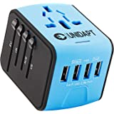 Unidapt Universal Travel Power Adapter, International Adapter, Fast 2,4A 4-USB Worldwide European Power Charger, AC Wall…