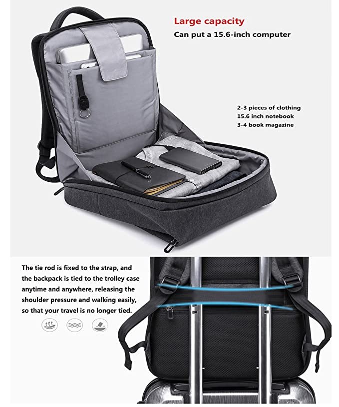 Amazon.com: TYWZF Laptop Backpack USB Charging Port Anti-Theft high Capacity 15-inch Laptop: Sports & Outdoors