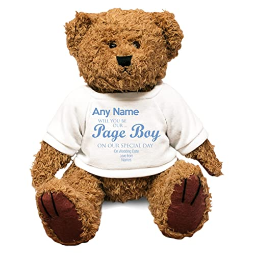 Duke Gifts Personalised Will You Be Our Wedding Role Big Teddy Bear unique  gift idea kids thank you present