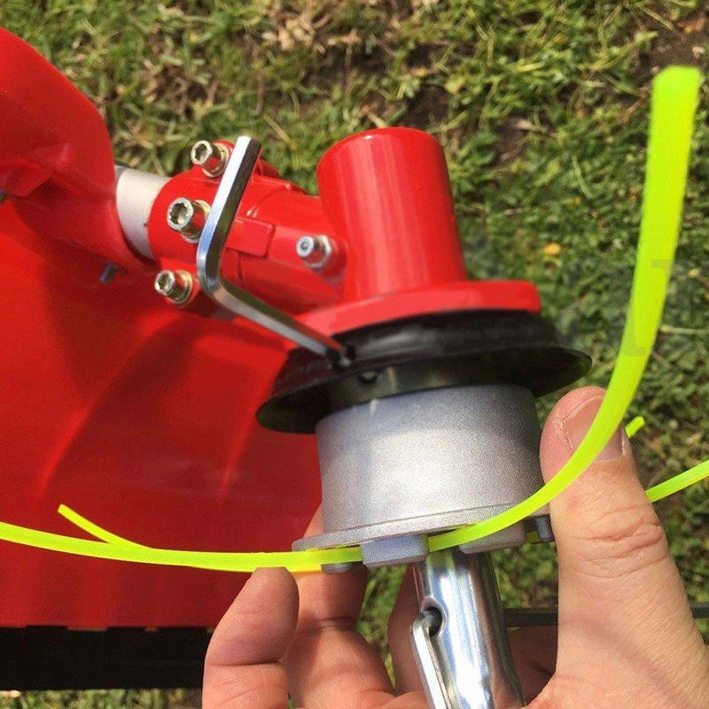 Hukz - Juego de desbrozadora con cabeza de hilo doble, de aluminio ...