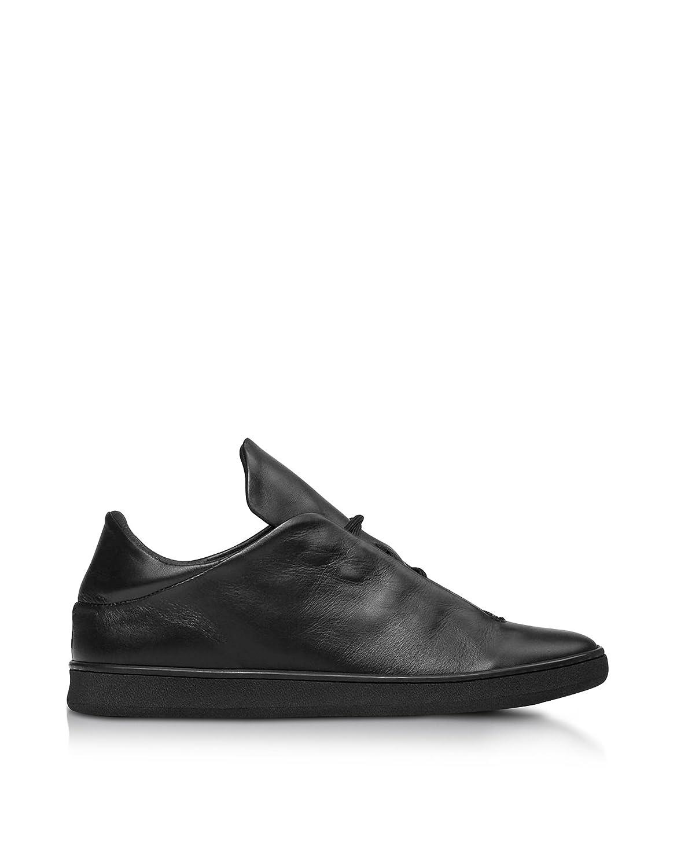 Ylati メンズ YL133BLACK ブラック 革 運動靴 B07DX9P52X