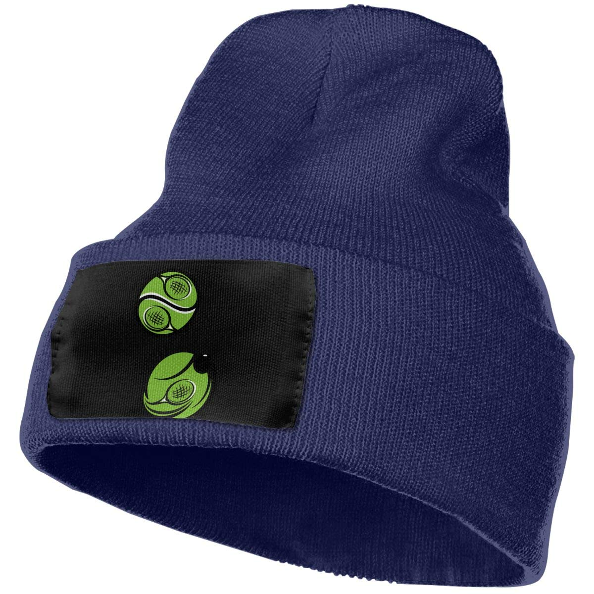 Crossed Tennis Racket Clipart Warm Beanie Hat WHOO93@Y Mens and Womens 100/% Acrylic Knitting Hat Cap