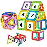 NextX Blocchi Magnetici Giocattolo - Set Di 24 Pezzi per Costruzioni 3D - Puzzle Educativo per Piccoli Ingegneri - Regalo Perfetto per Bambini 3+ Anni