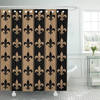 Image Unavailable Not Available For Color Emvency Shower Curtain Brown Black