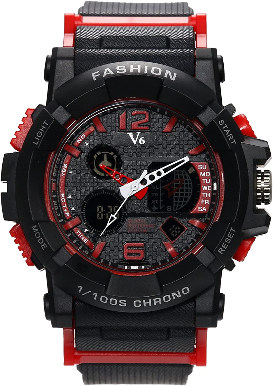 Hombre Digital Relojes, digitaluhr Negro Classic Casual Relojes con multifunción Cronógrafo Reloj Deportivo Business Fashion Quartz reloj de pulsera para hombres