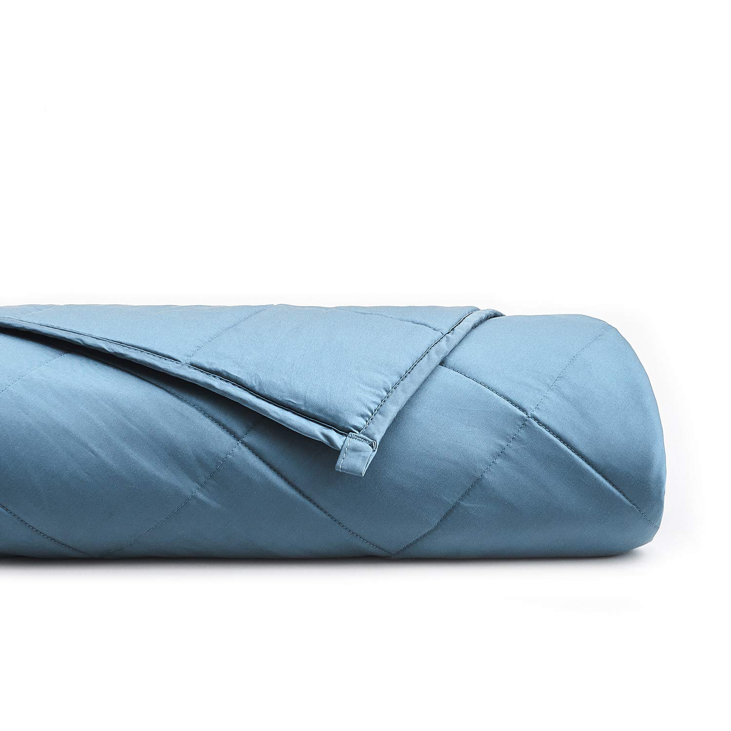 YnM Bamboo Weighted Blanket with 100% Pure Natural Bamboo Viscose | 20 lbs for 150-200 lbs Individual, 60''x 80'' | Luxury Cooler Version Weighted Blanket, Blue Grey by YnM