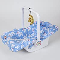 Dash Multipurpose (7 in 1) Blue Baby Carry cot with Mosquito net and Sun Shade (Blue)