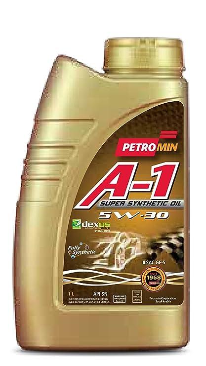 Petromin 1 Super SINTÉTICO Aceite 5W30 Sn Lubricante (1L)