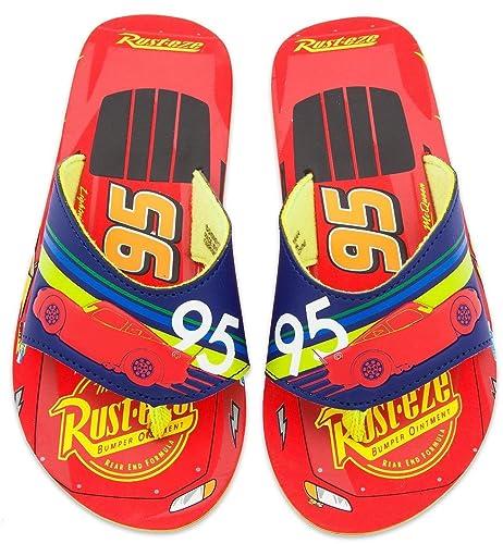c97887550e6931 Pixar Disney Cars Lightning McQueen Sandals Flip Flop Slippers For Kids (2