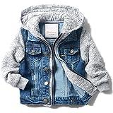 LJYH Boys' Basic Denim Trucker Jackets Children Fall Hoodies Trendy Jeans Coats
