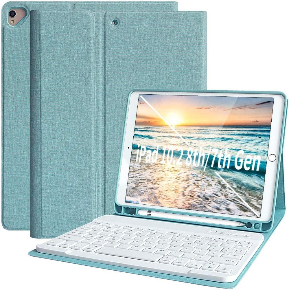 iPad 10.2 8th Generation 2020 7th Gen 2019 Keyboard Case iPad 7th Generation Case with Keyboard Detachable Bluetooth Keyboard Case Cover for iPad 8th Gen 7th Gen 10.2 Inch iPad Air 3 iPad Pro 10.5