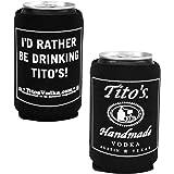 1 Tito's Vodka Can Bottle Cooler-  Black