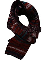 Men Stripes Pattern Warm Winter Leisure Knitted Scarf