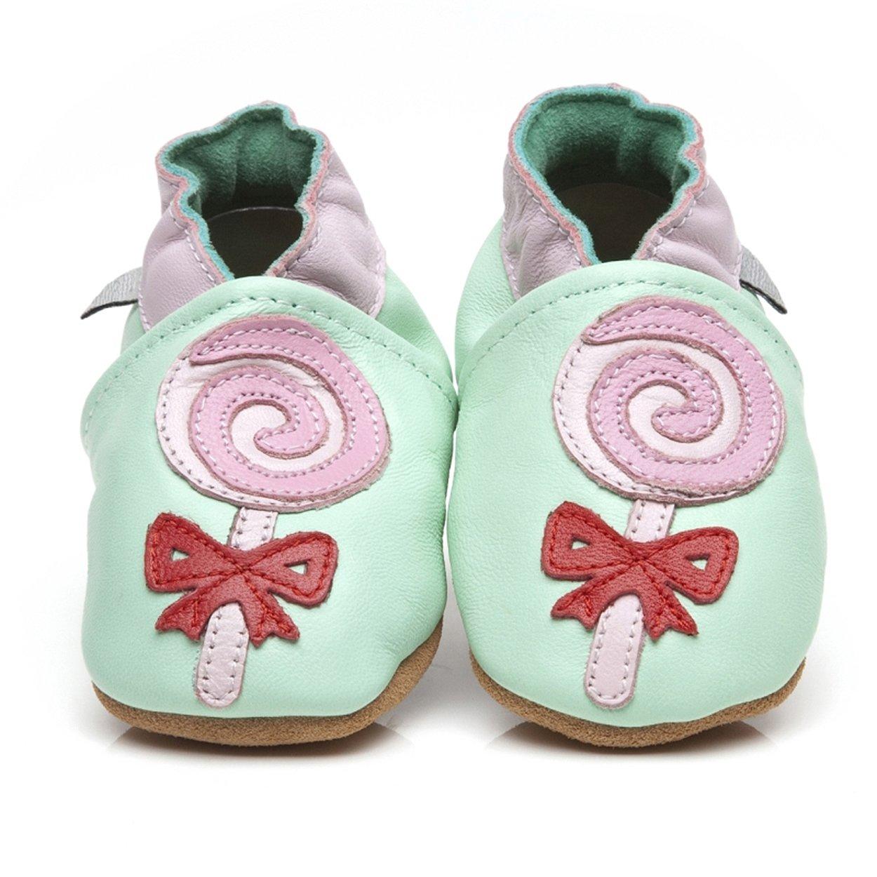 Zapatos piel de Luxe para bebé chupete verde verde Talla:XS ...