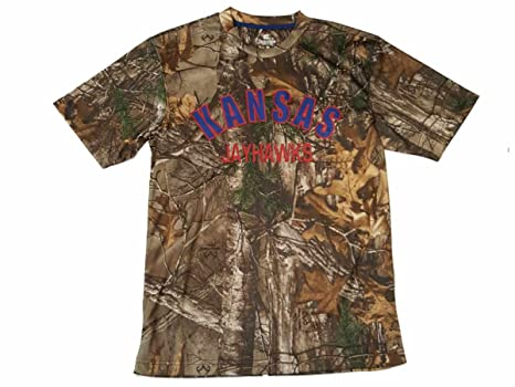 c930854a6 Image Unavailable. Image not available for. Color: Colosseum Kansas  Jayhawks Realtree Camo SS Crew Neck Performance T-Shirt ...