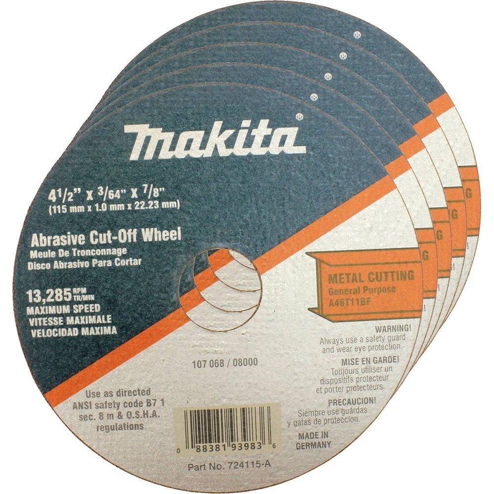 Makita 724115-A-25 Cut Off Wheel, 25-Pack, 4-1/2-Inch