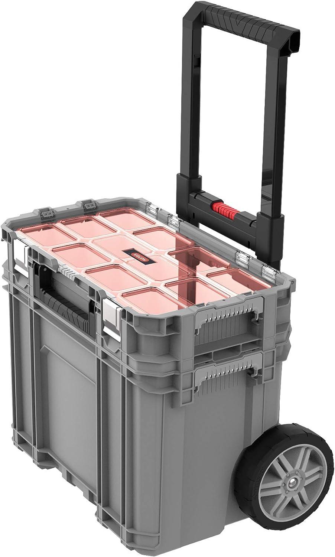 system Coffre Roulant 56,5x37,3x55 cm KETER Gris organiseur connect