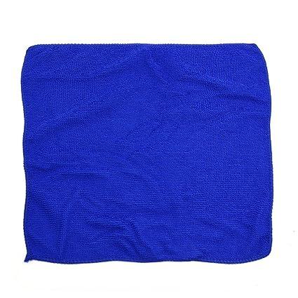Sourcingmap 5 Piezas de 30 X 30cm Azul Absorbente de Microfibra Paño de Limpieza de Lavado