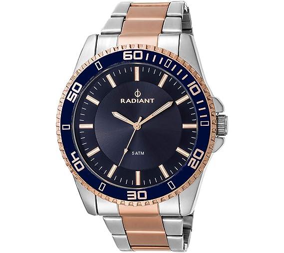 Radiant Reloj Cronógrafo para Hombre de Cuarzo con Correa en Acero Inoxidable RA374203: Amazon.es: Relojes