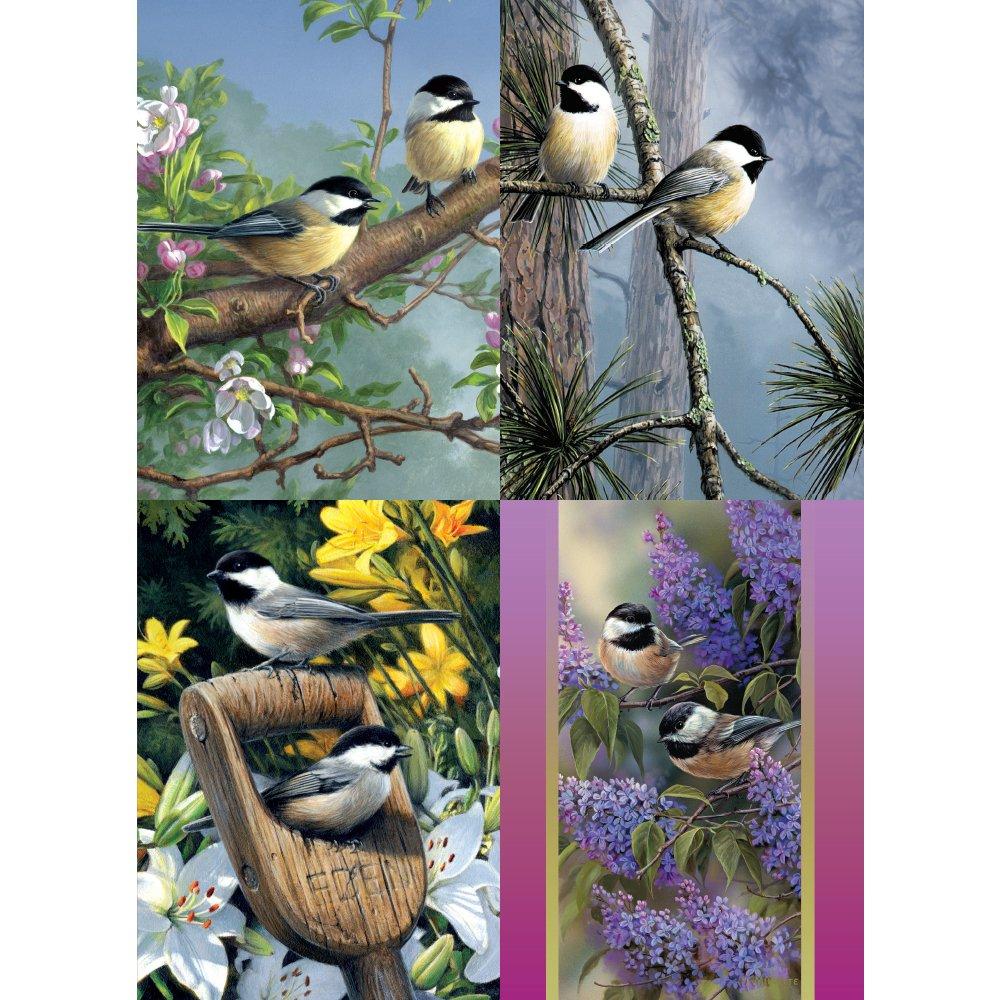 Tree-Free Greetings Chickadee Friends あらゆる機会に使えるカード詰め合わせ 5 x 7インチ カード8枚と封筒セット (GA31413) B01M7QZPT3