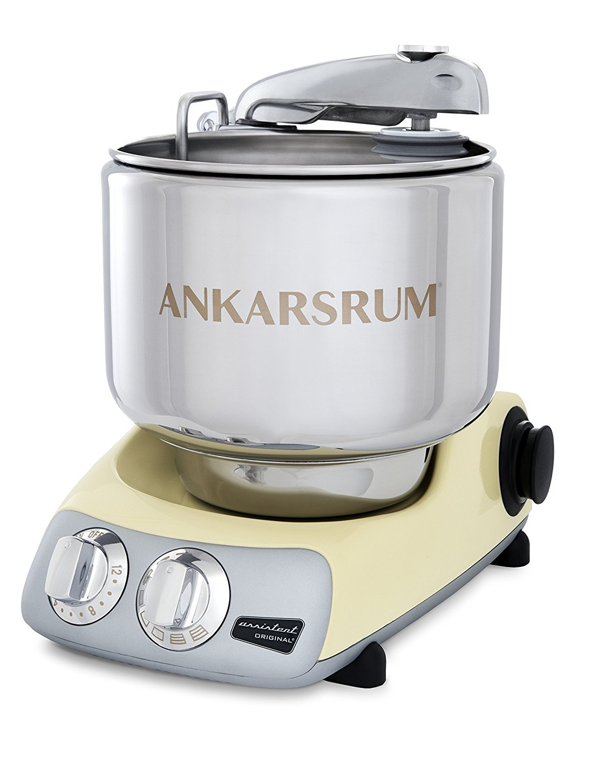 Ankarsrum Original 6230 Creme and Stainless Steel 7 Liter Stand Mixer