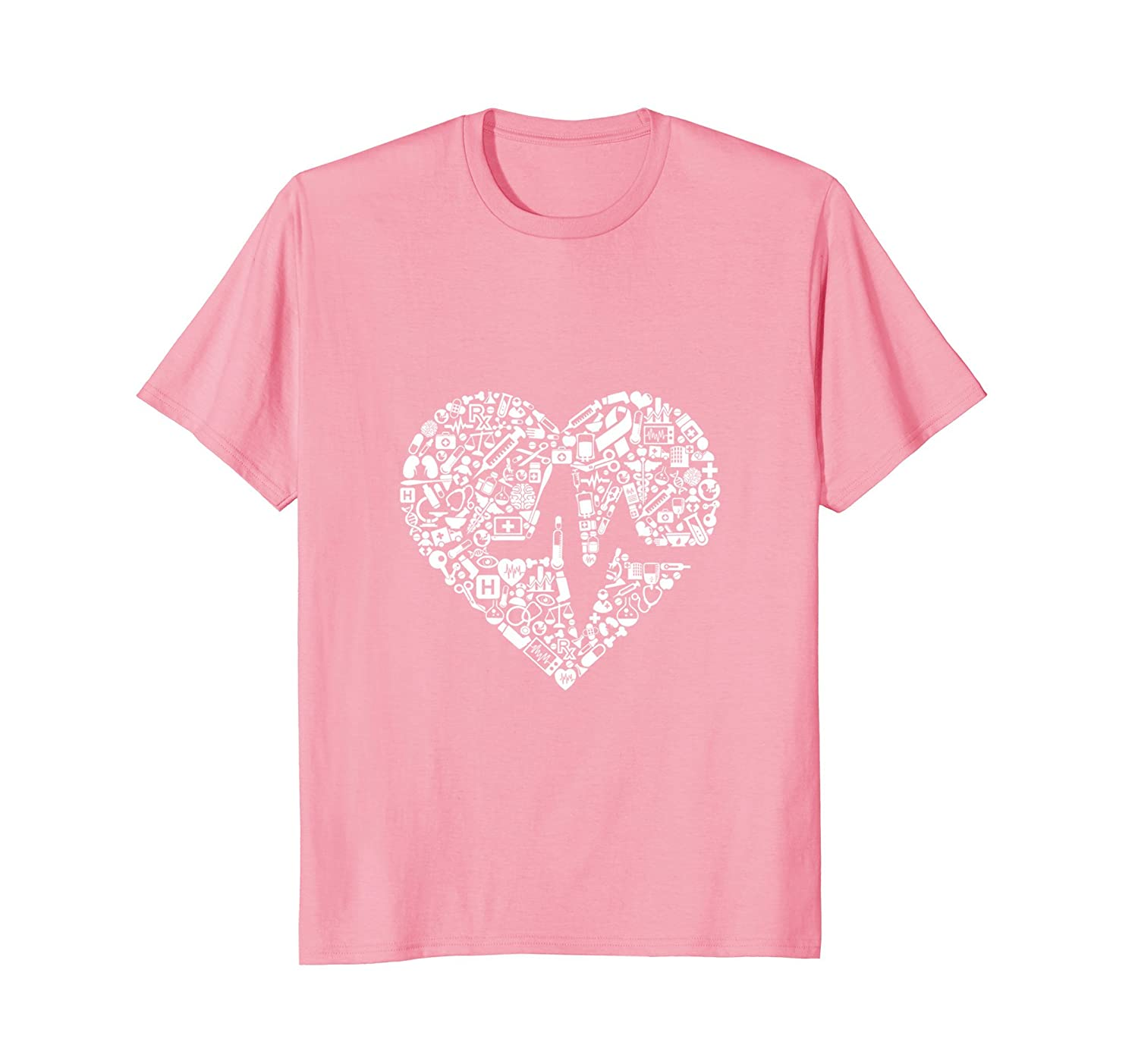 Medical Doctor Nurse Heart Tee Teleout Cool T Shirt Designs For