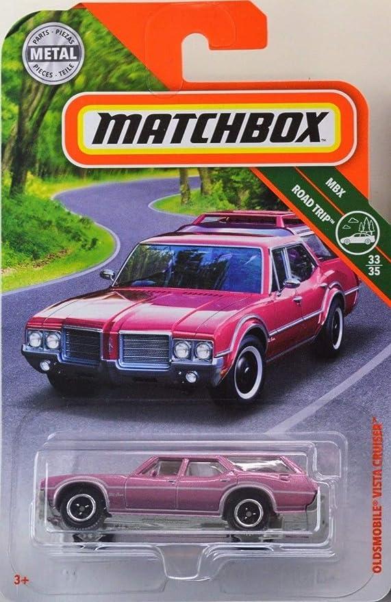2018 MATCHBOX MBX ROAD TRIP PORSCHE OLDSMOBILE VISTA CRUISER PINK 33//35