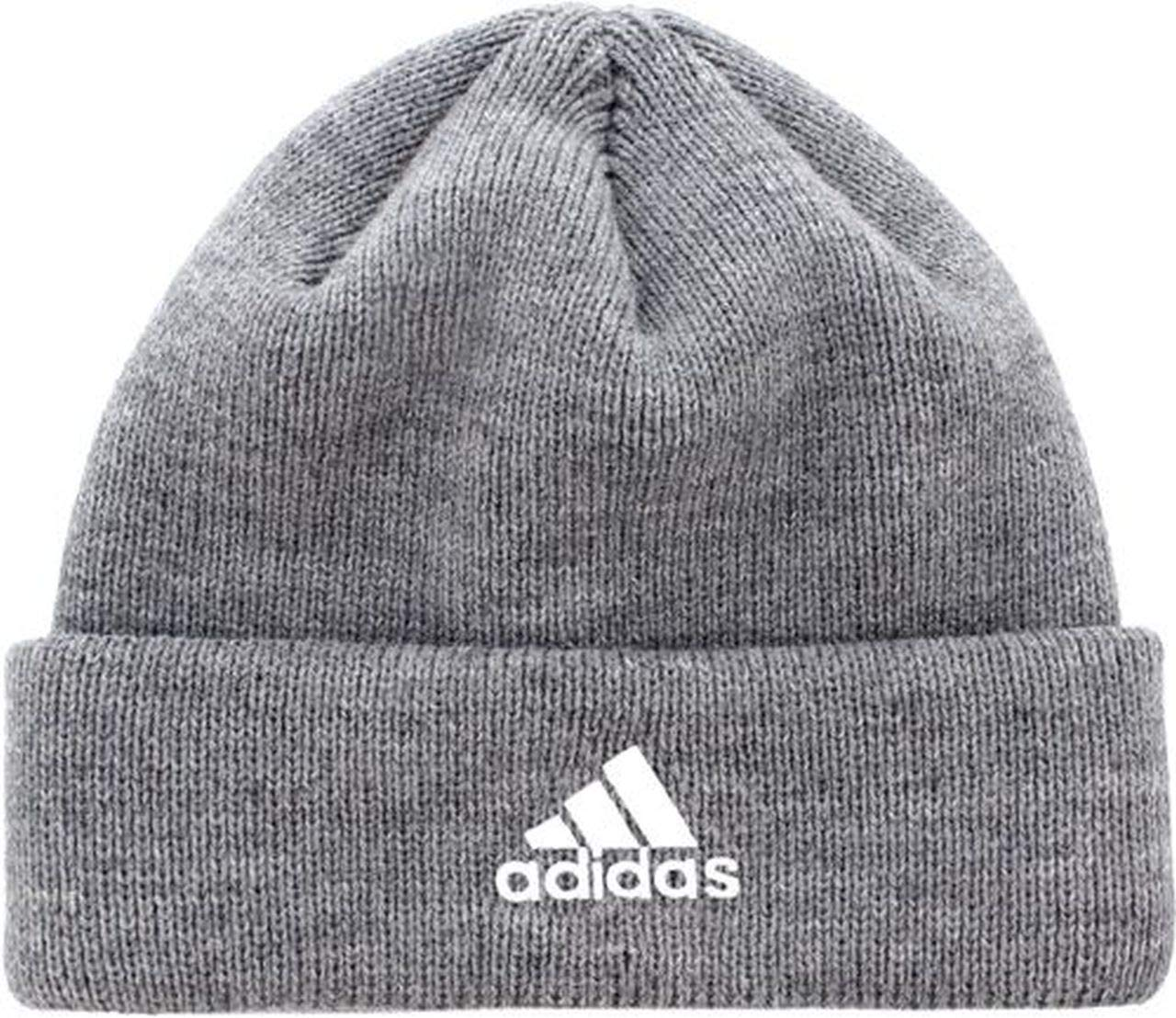 adidas Womens Team Issue Fold Beanie (One Size, Marled Grey Heather/White)
