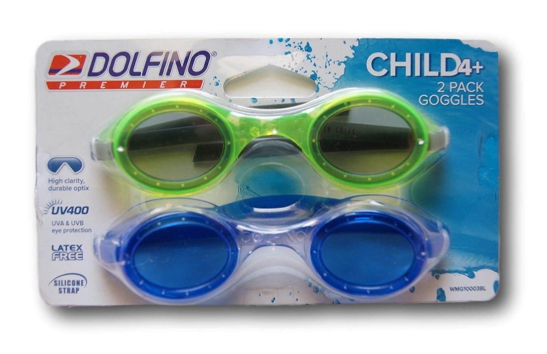 Dolfino Premier Set of 2 Swim Goggles for Children Aqua Leisure