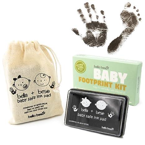 2e61ca5a004a6 Kit empreinte de main et empreinte de pied pour bébé - Boîtier d encre noir