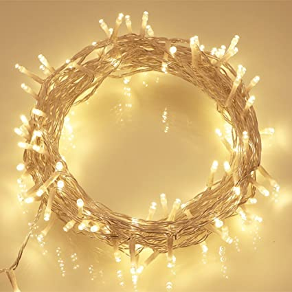 echosari battery operated 69ft clear cable 200 led indoor fairy lights wremote timer