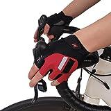 【GSG】サイクリンググローブ ロードバイク グローブ 夏 手袋 メンズ サイクルグローブ レディース 指切り 滑り止め付き 通気性 耐磨耗性 換気性 男女兼用 4色 180681/180282