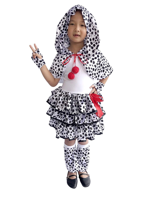 0d2654dcea0d2 Amazon.com  So Sydney Deluxe Girls Dalmatian Costume   Accessories ...