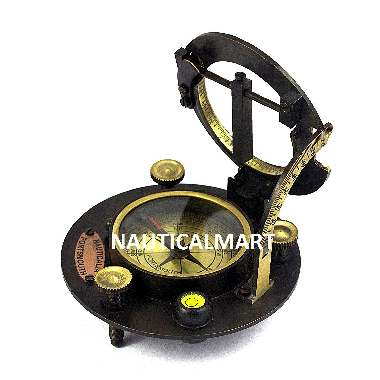 Vintage Portable Sonnenuhr Kompass antik Sonnenuhr Kompass nautisches Instrument