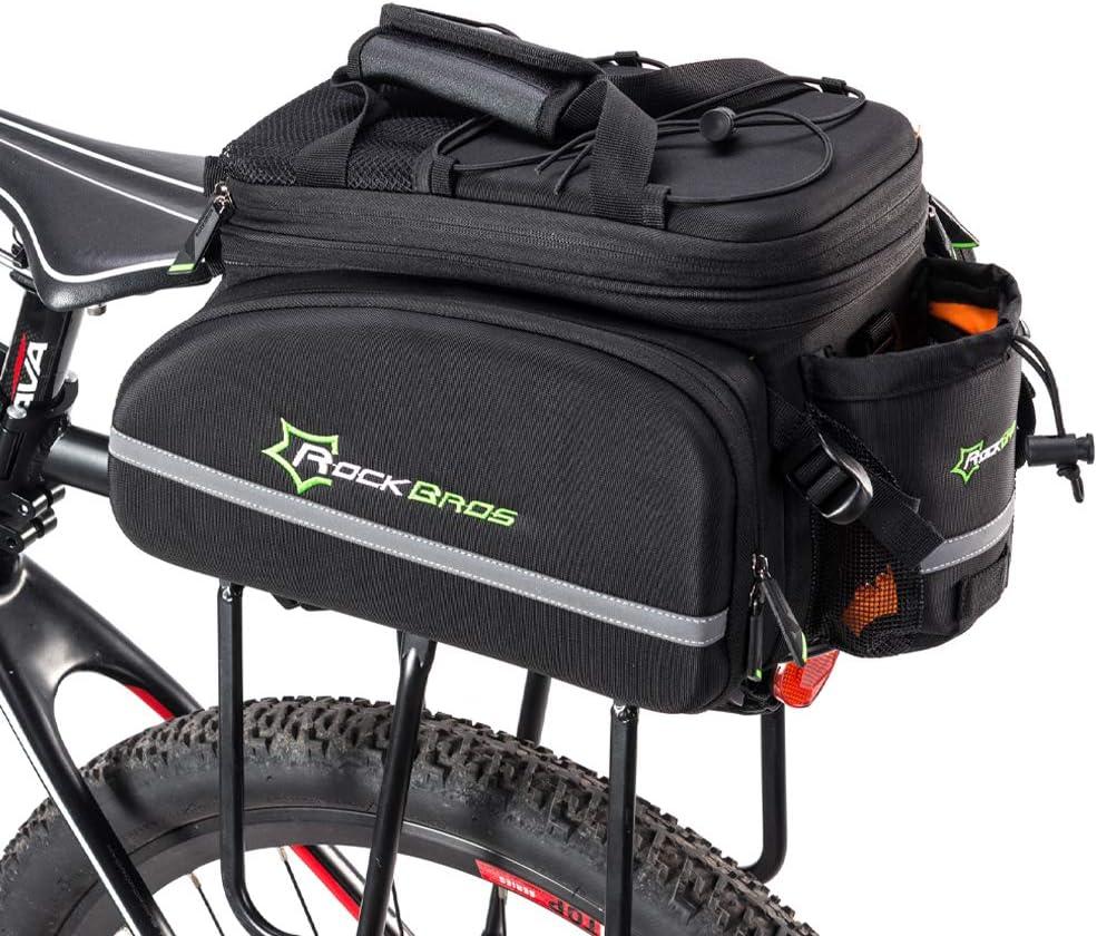ROCKBROS Bolsa Trasera de Portaequipajes Alforjas para Bicicleta Impermeable 20L MTB Ciclismo Viaje Amarillo