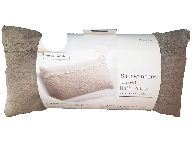 Tchibo TCM Badewannenkissen Kissen Badewanne mit H/äkelborte