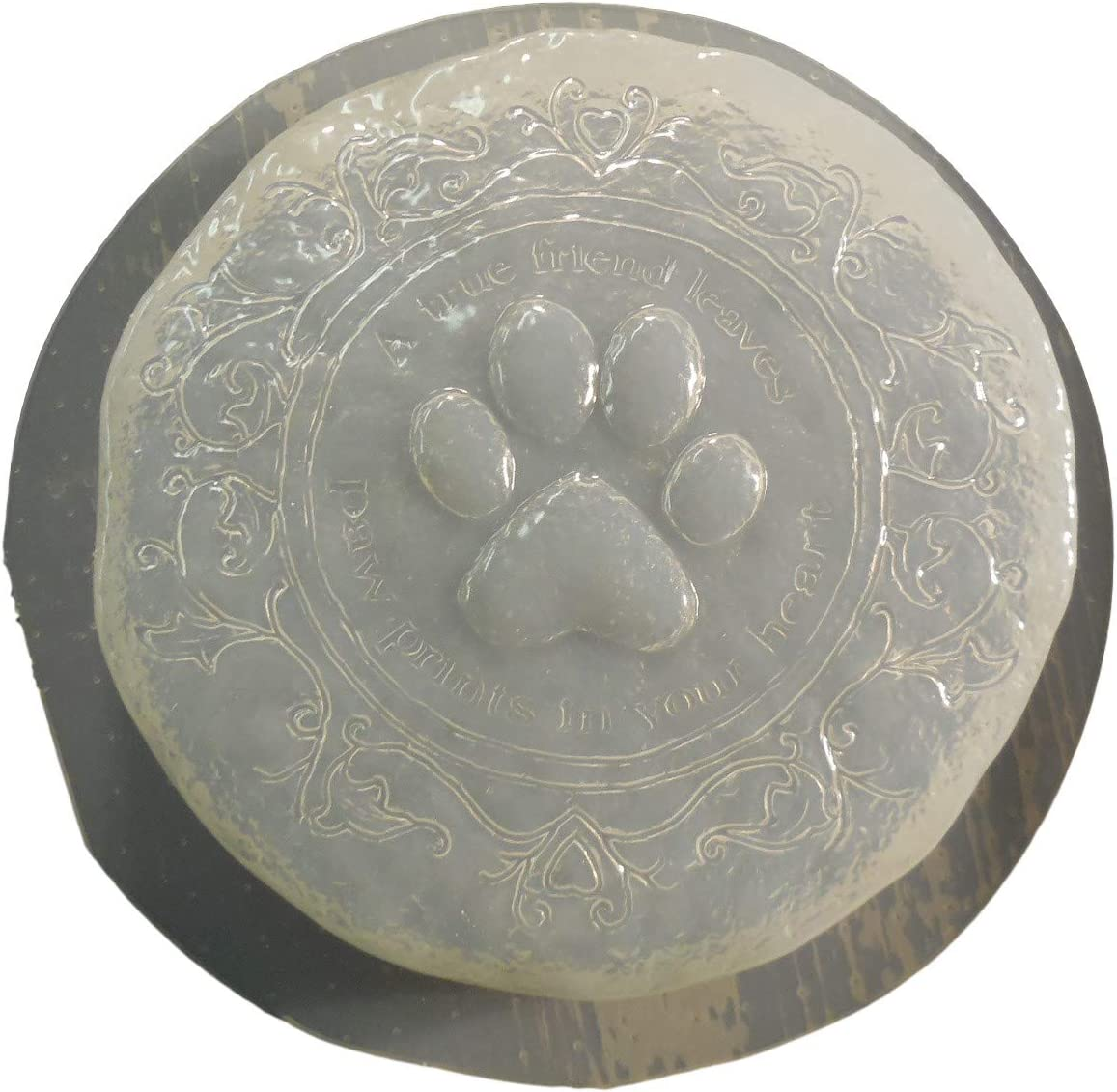 Small Dog Cat Paw Print Memorial Stepping Stone Concrete or Plaster Mold 7248