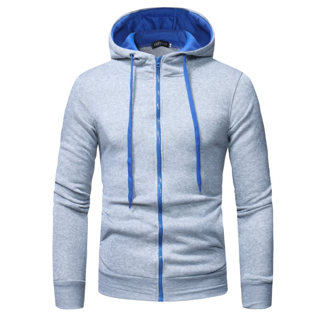Men's Hoodie, Moonuy Men Long Sleeve Fashion Casual Daily Handsome Hooded Sweatshirt Tops Autumn Winter Jacket Coat Outwear Parka Hoody Sweater Overcoat Hoodies for Men Men' s Hoodie