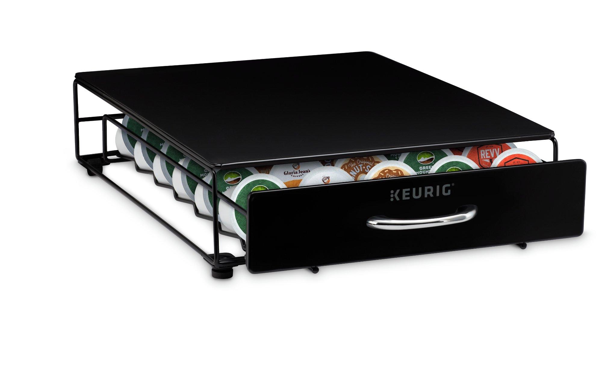 Keurig Under Brewer Storage Drawer, K-Cup Pod Organizer Holds 35 Coffee Pods, Fits Under Keurig K-Cup Pod Coffee Makers, Black by Keurig (Image #2)